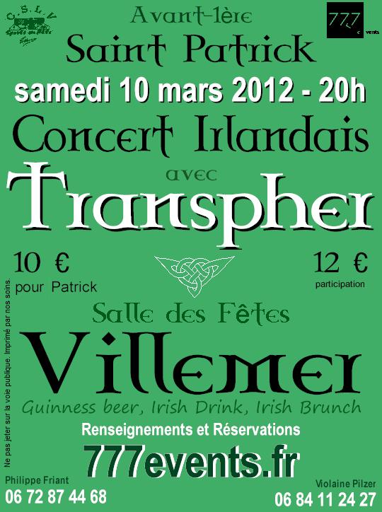 2012-03-10 St-Patrick Day avec le groupe Transpher à Villemer _77