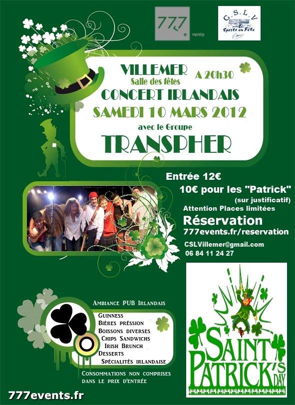 Saint Patrick's Day à Villemer 77